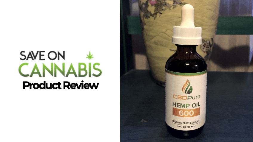 CBDpure Review - Save On Cannabis - CBD Tincture - FEATURED IMAGE