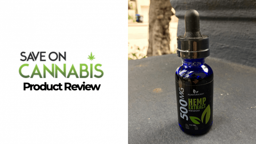 All Natural Way 500 mg Hemp Extract Save On Cannabis Website