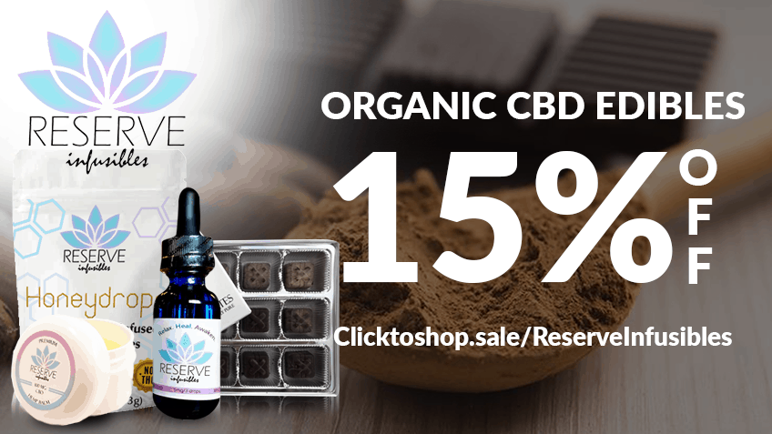 Reserve Infusibles Coupon Code discounts promos save on cannabis online Website