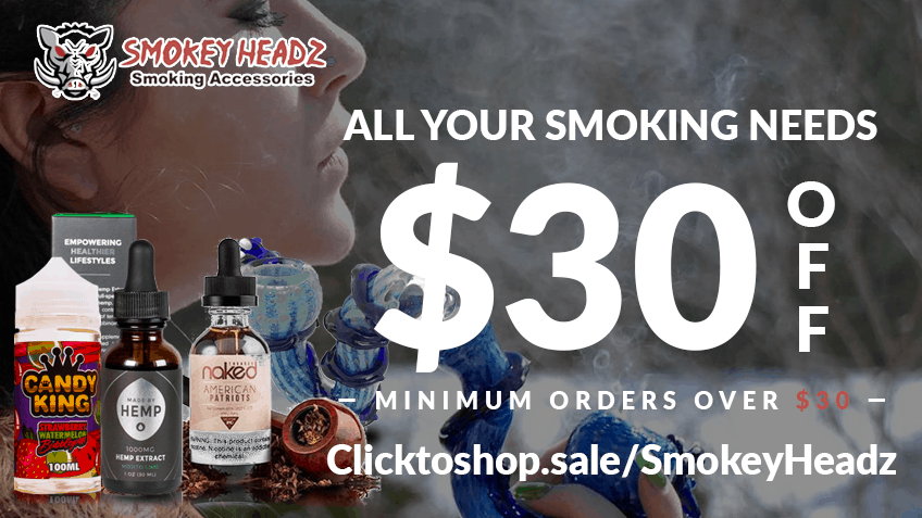 Smokey Headz Coupon Code discounts promos save on cannabis online Website