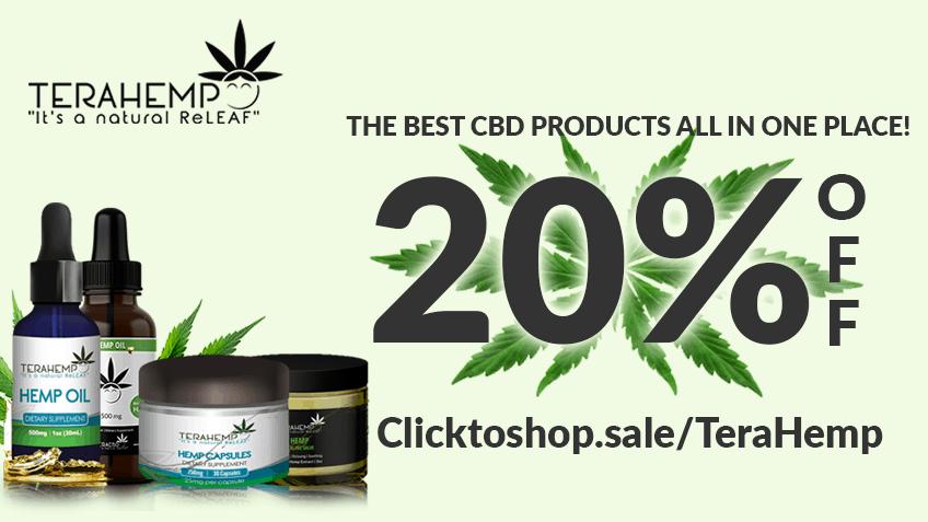 TeraHemp Coupon Code discounts promos save on cannabis online Website