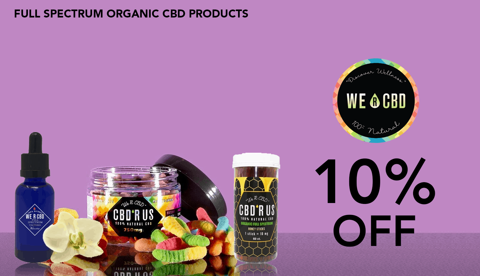 We R CBD Coupon Code discounts promos save on cannabis online Website