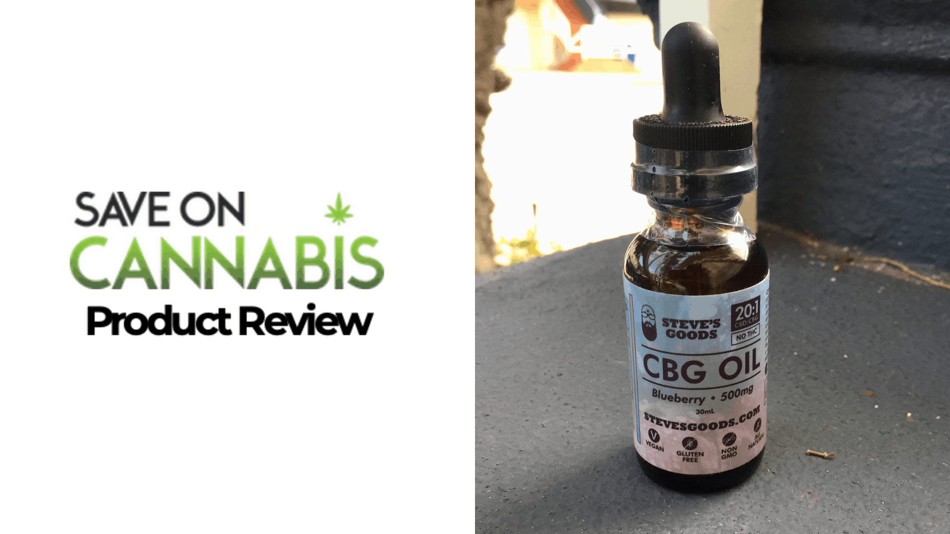 steves goods cbd cbg blueberry oil 20 1 500 mg Save On Cannabis Website