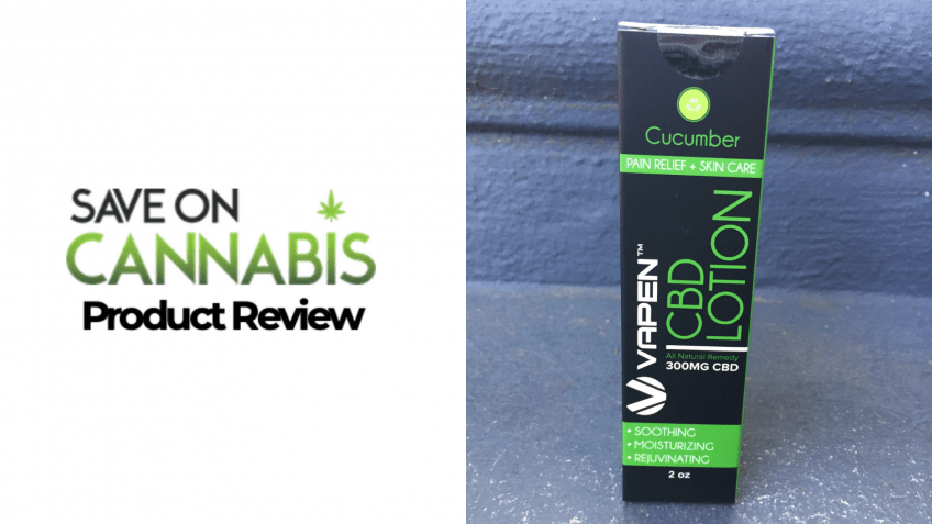 vapen cbd cucumber lotion 300 mg Save On Cannabis Website