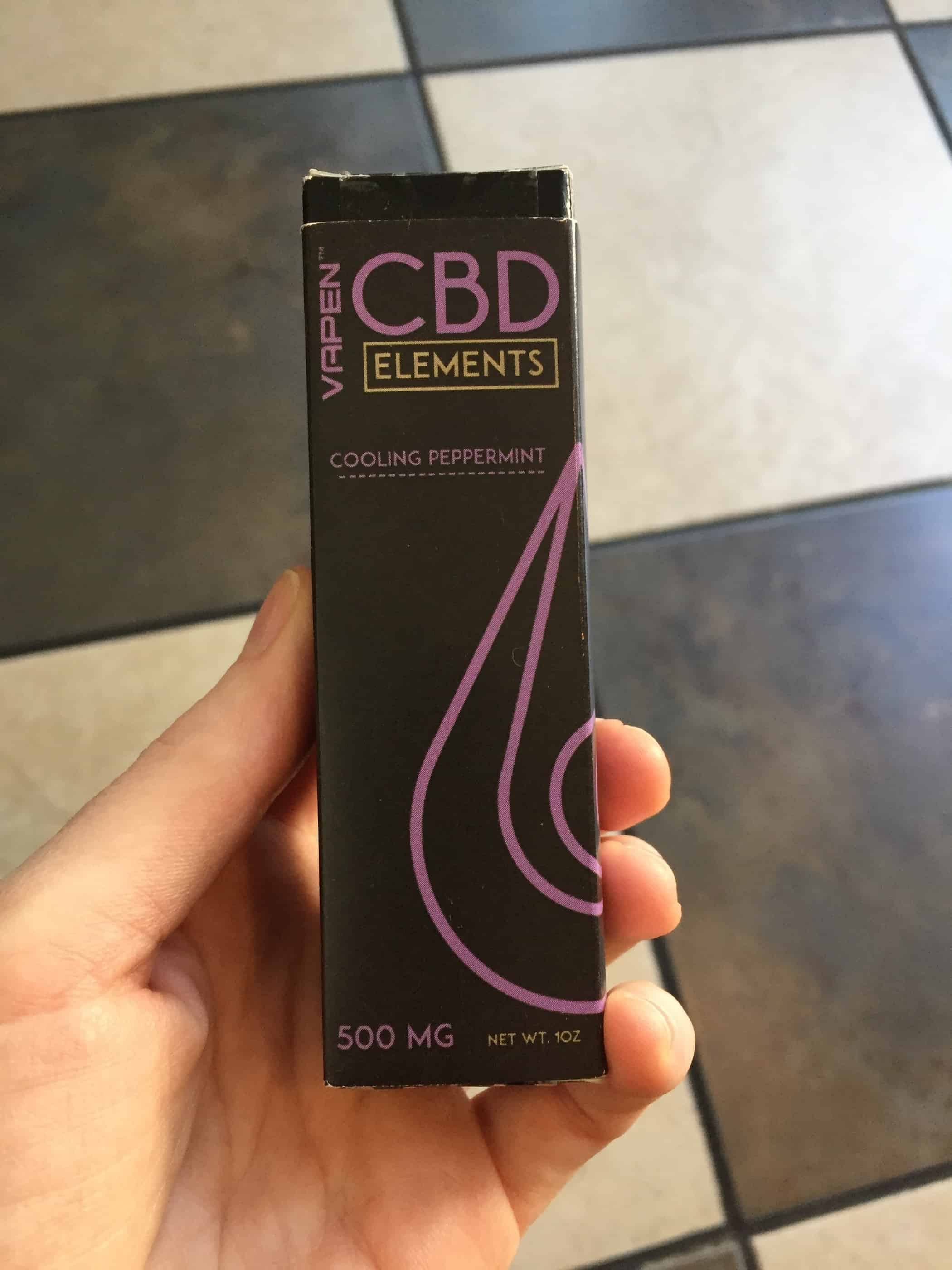 vapen cbd elements cooling peppermint 500 mg Save On Cannabis review