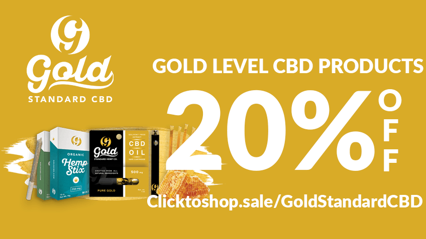 Gold Standard CBD discounts promos save on cannabis online Website