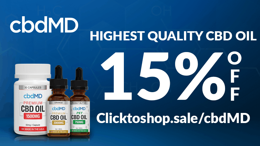 cbdMD Coupon Code discounts promos save on cannabis online Website