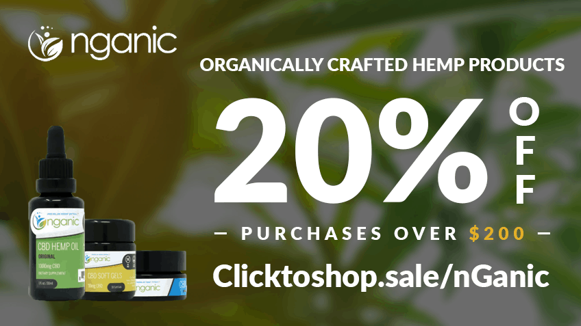 nGanic Coupon Code discounts promos save on cannabis online website20%