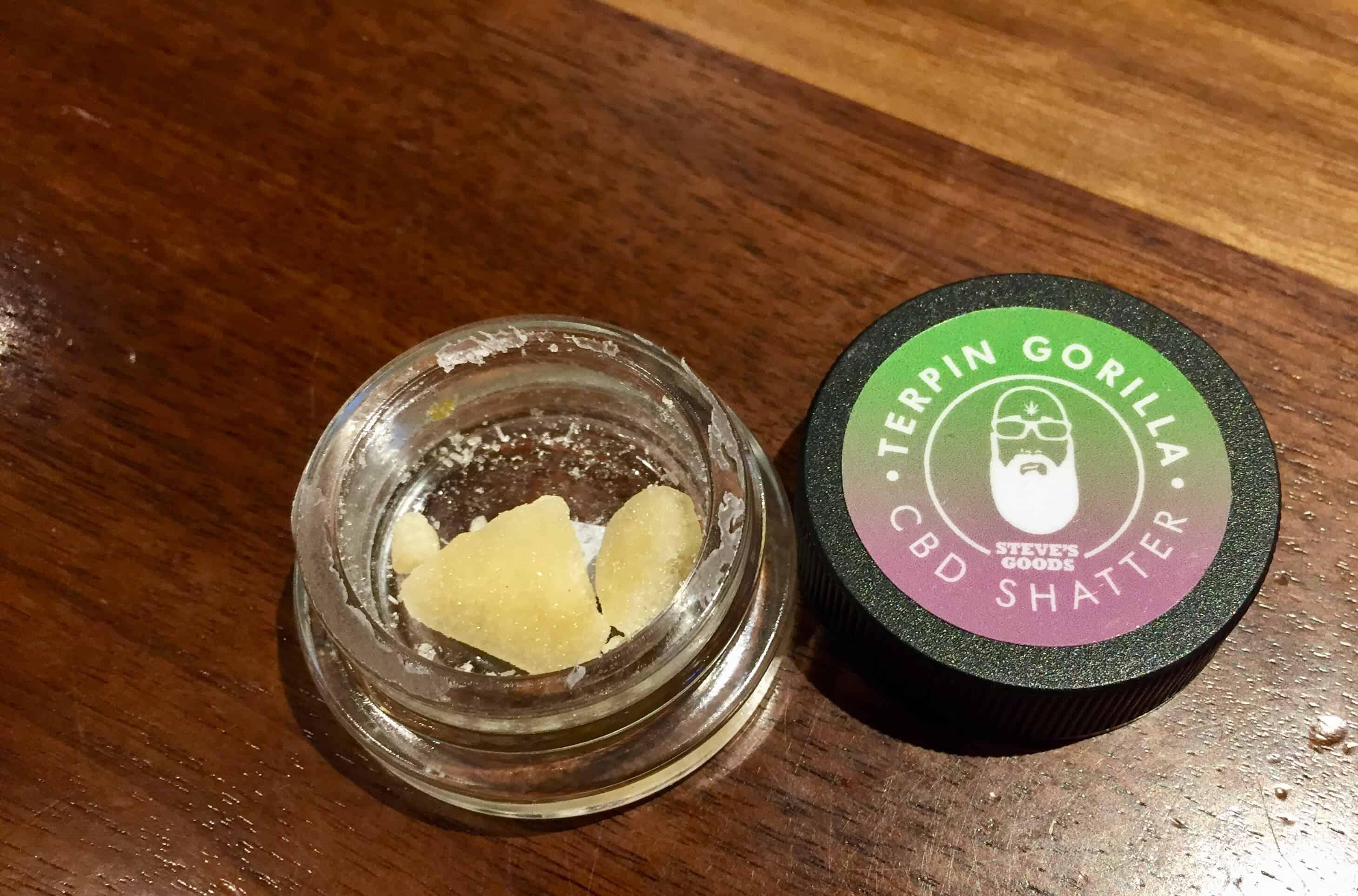 steves goods terpin gorilla cbd shatter 1 g Save On Cannabis Beauty shot