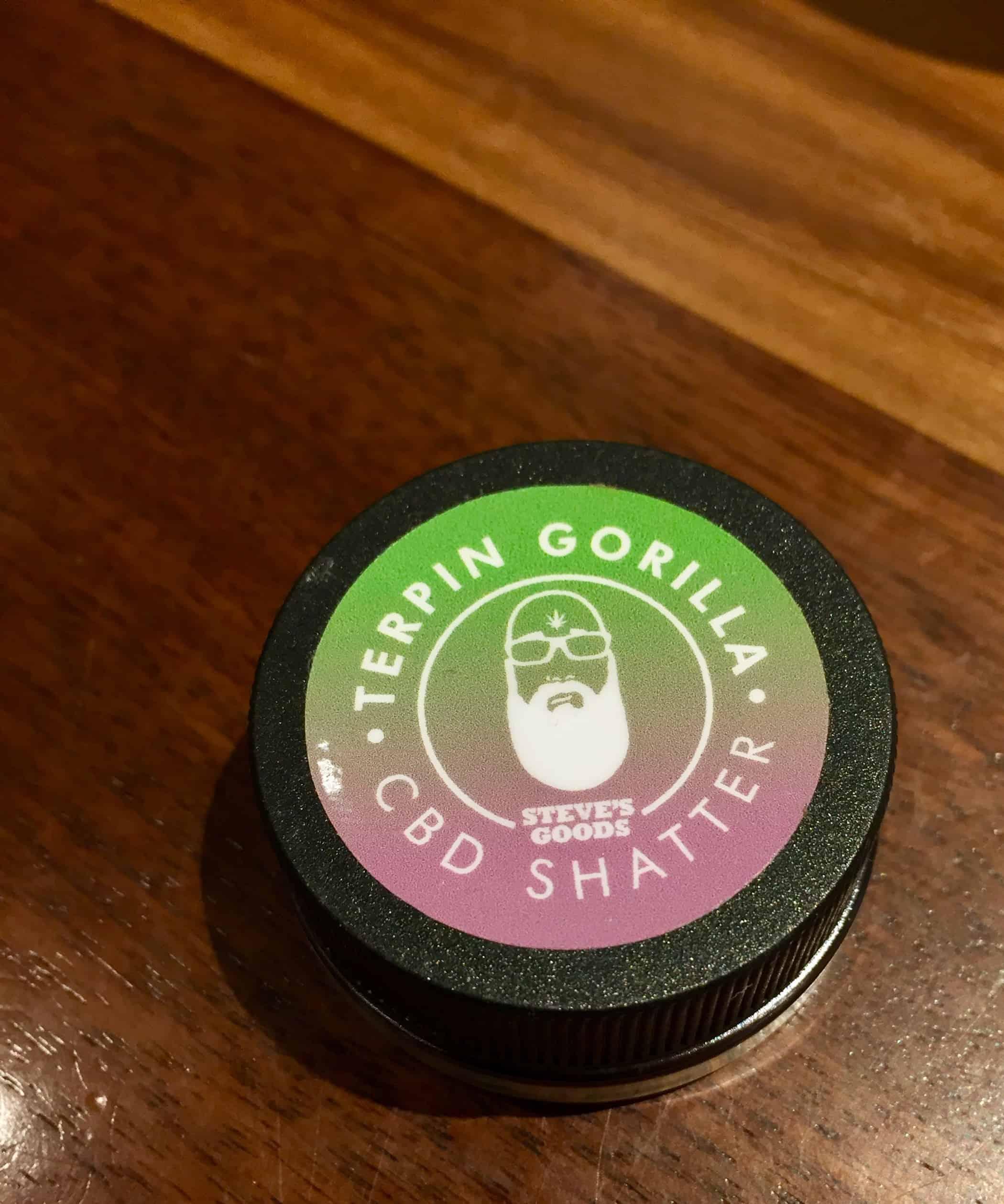 steves goods terpin gorilla cbd shatter 1 g Save On Cannabis review
