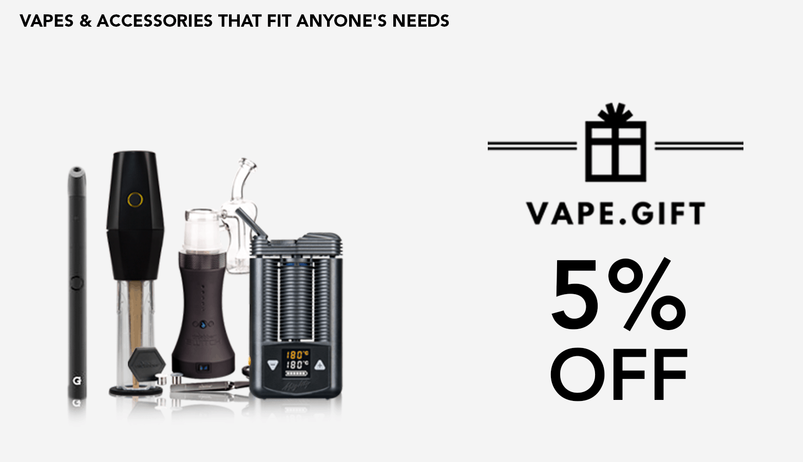 VapeGift Coupon Code discounts promos save on cannabis online Website Redesign