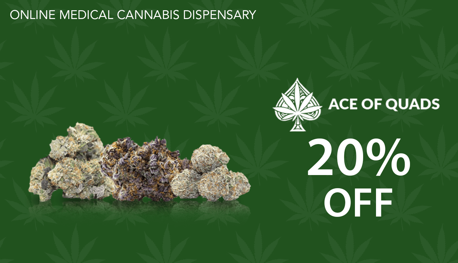 Ace of Quads CBD Coupon Code discounts promos save on cannabis online Website Redesign