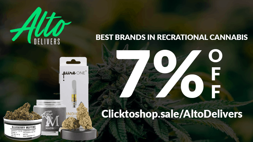Alto Delivers Coupon Code - Cannabis Delivery California