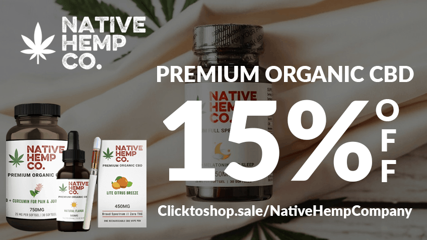 Native Hemp Company CBD Coupon Code discounts promos save on cannabis online Website