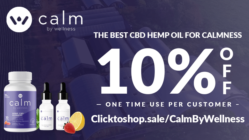 Calm by Wellness CBD Coupon Code discounts promos save on cannabis online Website10