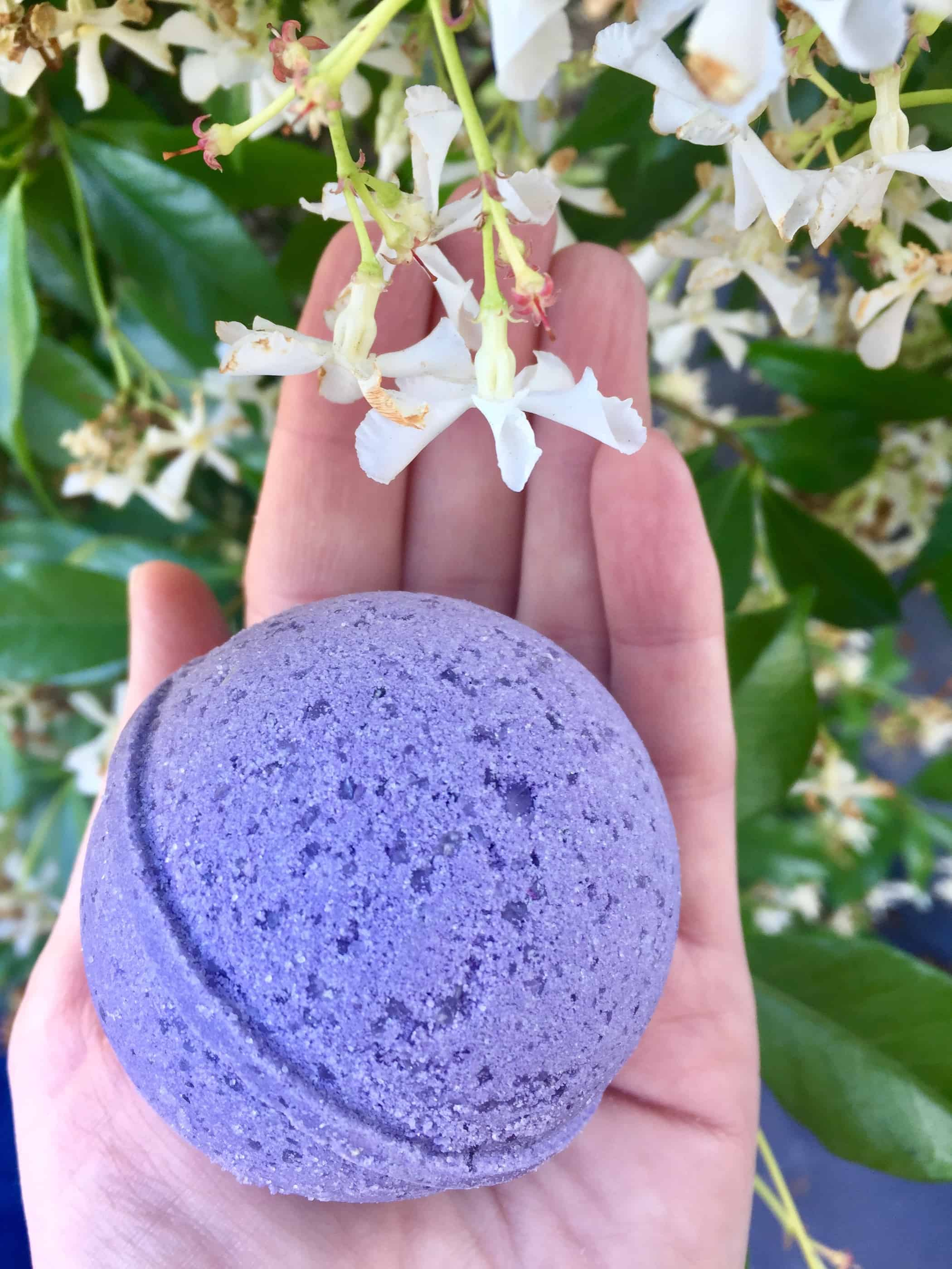enflower cbd bath bomb utopia lavender save on cannabis beauty shot