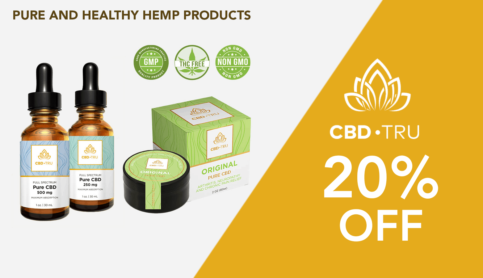 CBD•TRU CBD Coupon Code discounts promos save on cannabis online Website