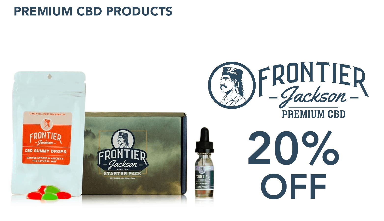 FrontierJackson.com CBD Coupon Code discounts promos save on cannabis online Website