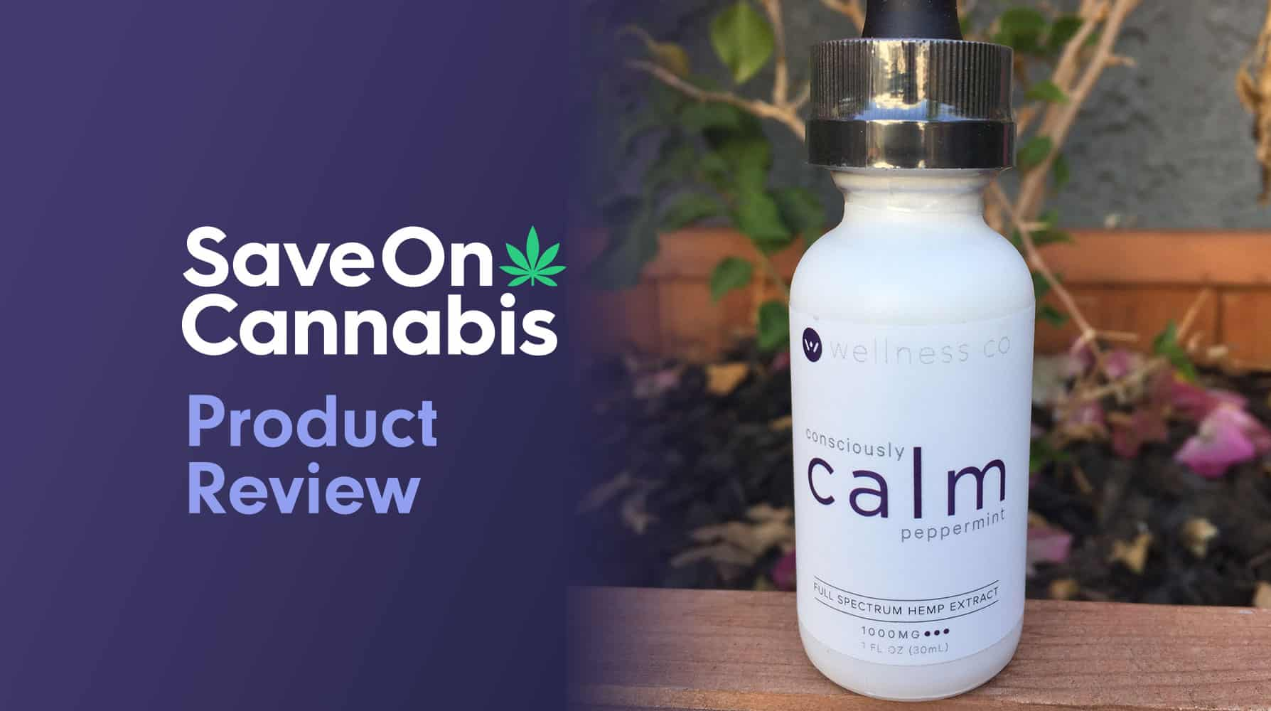 calm by wellness hemp cbd oil tincture peppermint 1000 mg save on cannabis website