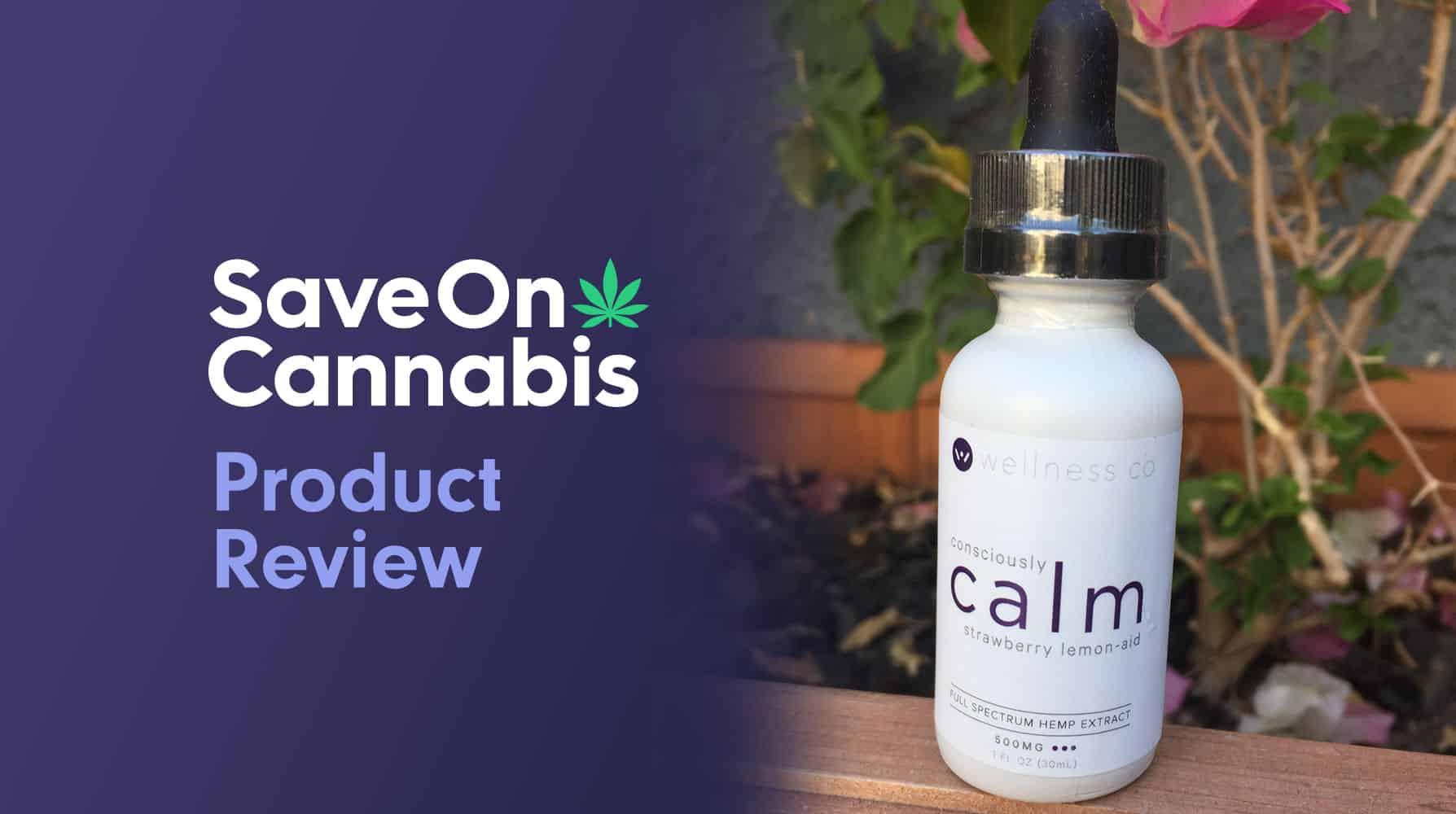 calm by wellness hemp cbd oil tincture strawberry lemon aid 500 mg save on cannabis website