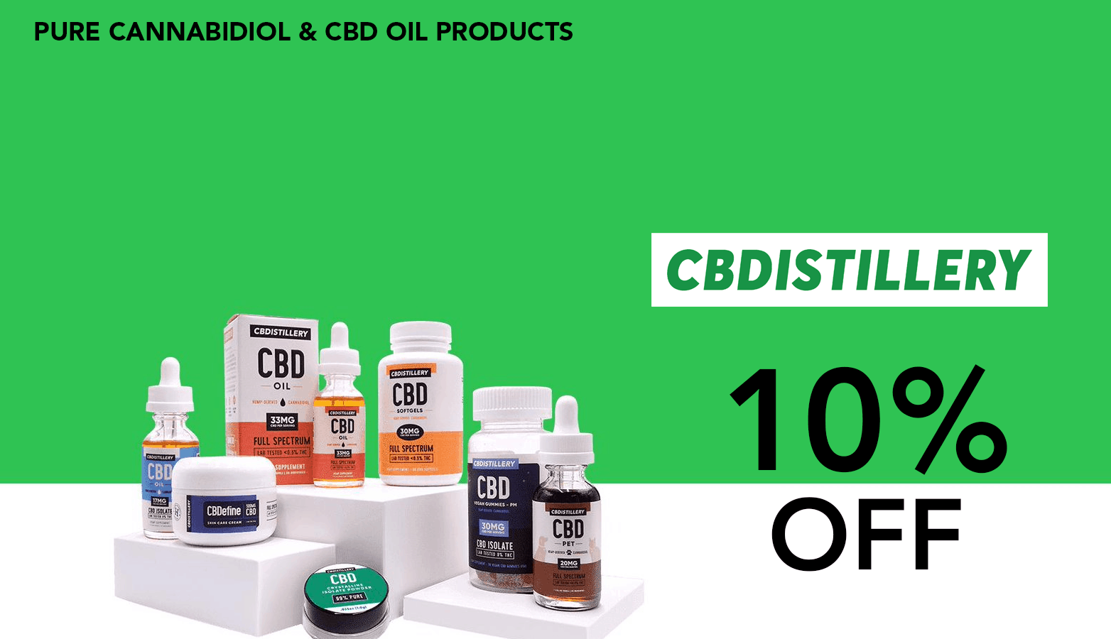 CBDistillery CBD Coupon Code discounts promos save on cannabis online Store Website