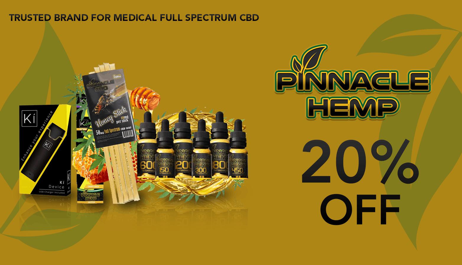 Pinnacle Hemp CBD Coupon Code discounts promos save on cannabis online Website