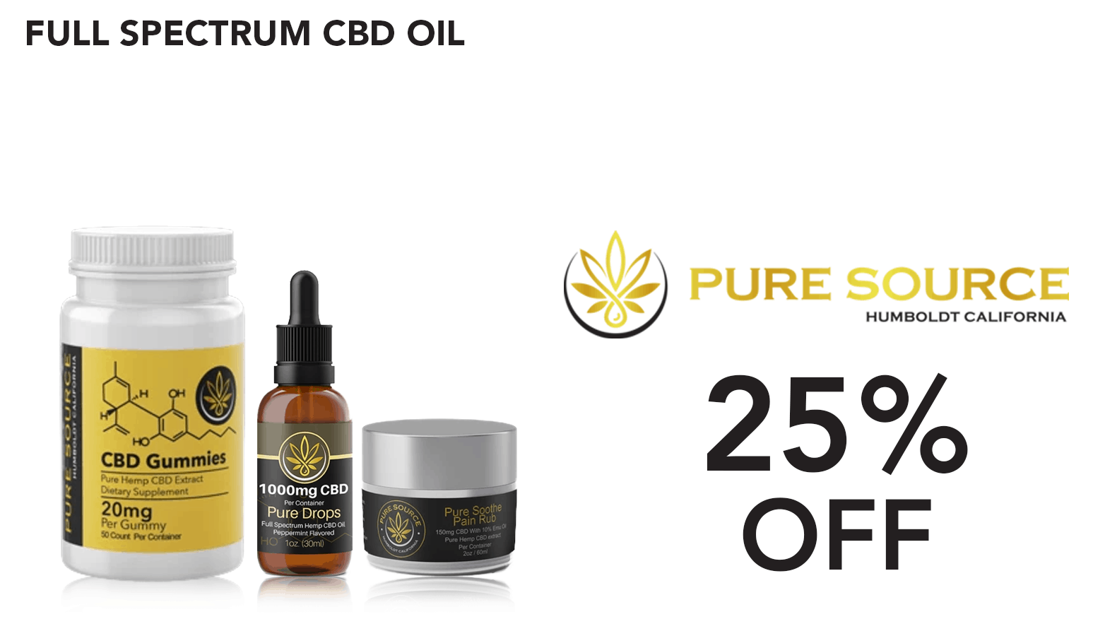 Pure Source Labs CBD Coupon Code discounts promos save on cannabis online Website