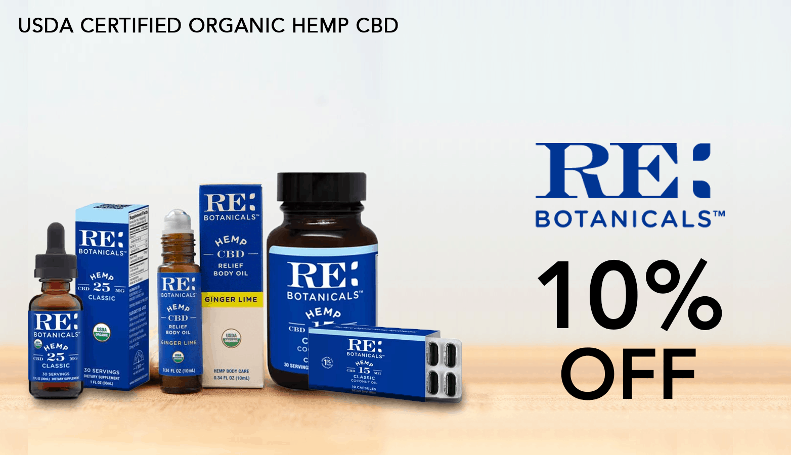 RE Botanicals CBD Coupon Code discounts promos save on cannabis online Website