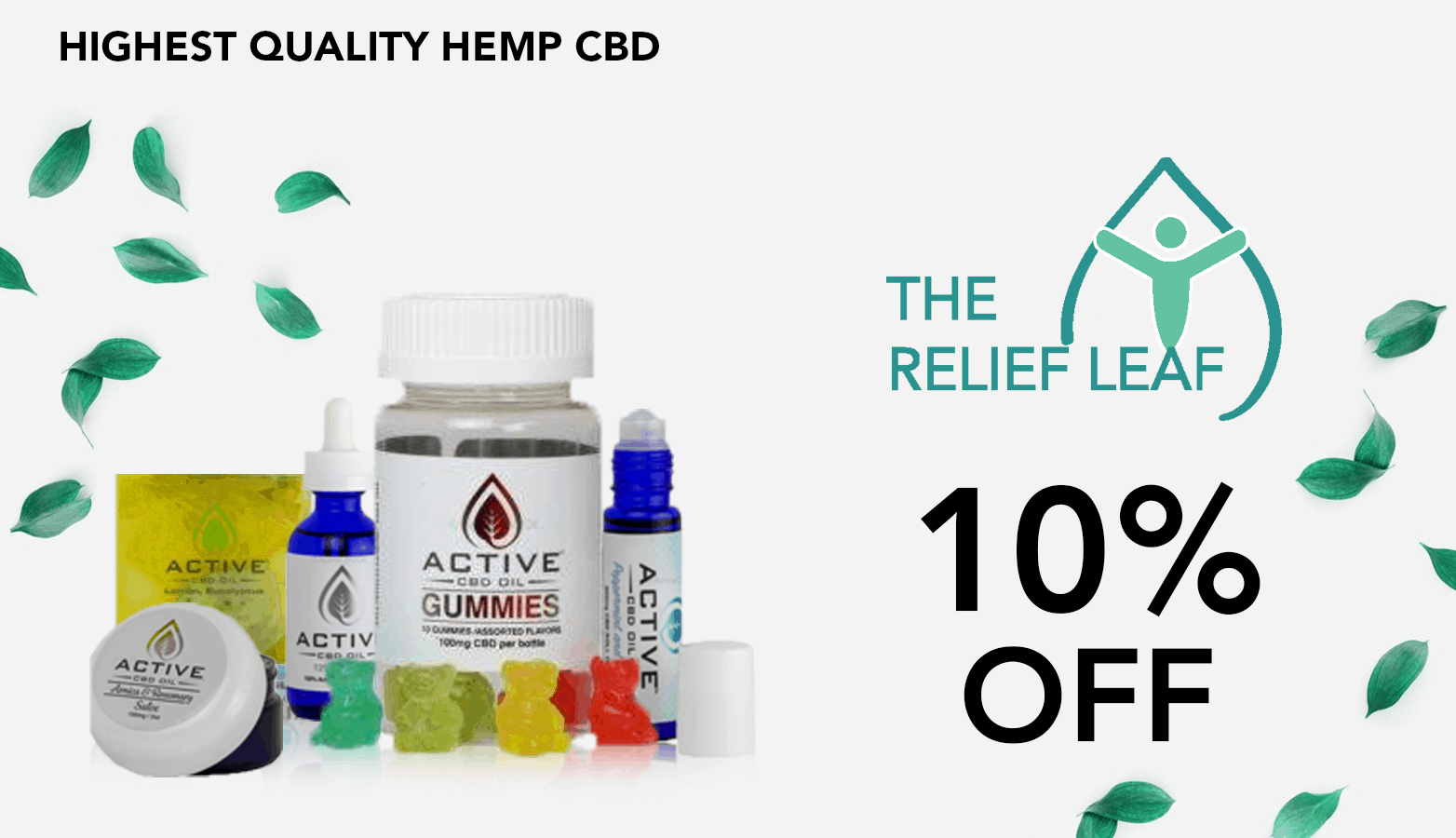 The Relief Leaf CBD Coupon Code discounts promos save on cannabis online Website Redesign