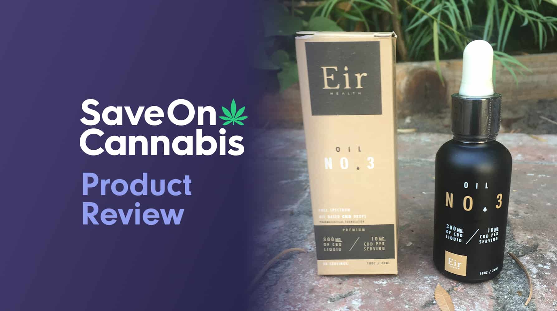 Cbd Review Eir Health Oil N0 3 300 Mg Low Potency Cbd