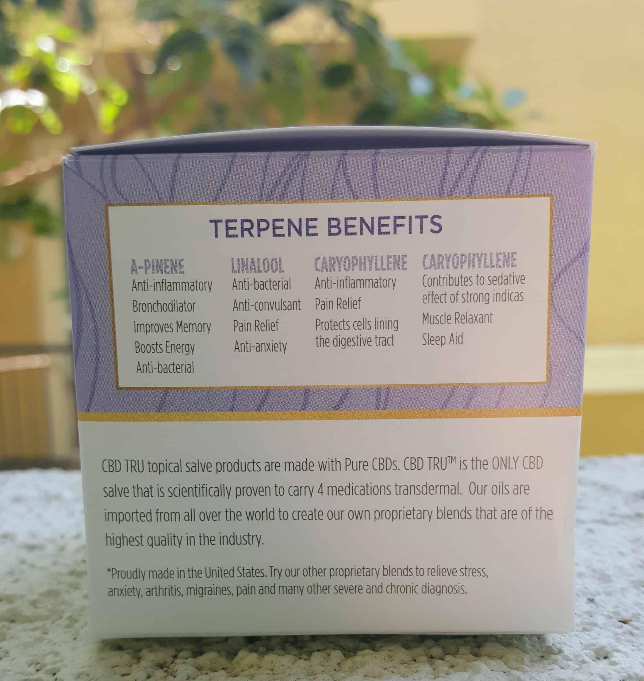 CBD Tru Review Migraine Salve Save On Cannabis Specifications
