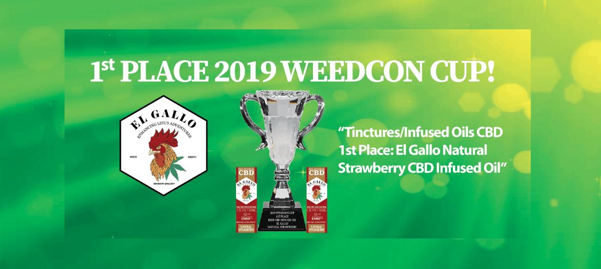 El Gallo CBD Coupons Code Winner Weedcon Cup