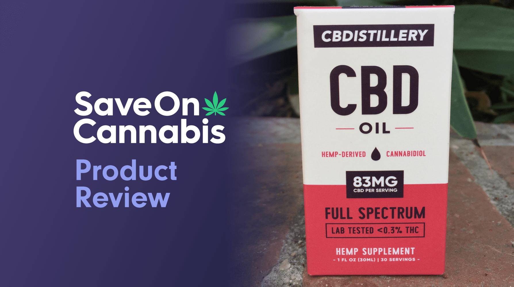 cbdistillery full spectrum cbd oil tincture 2500 mg save on cannabis website