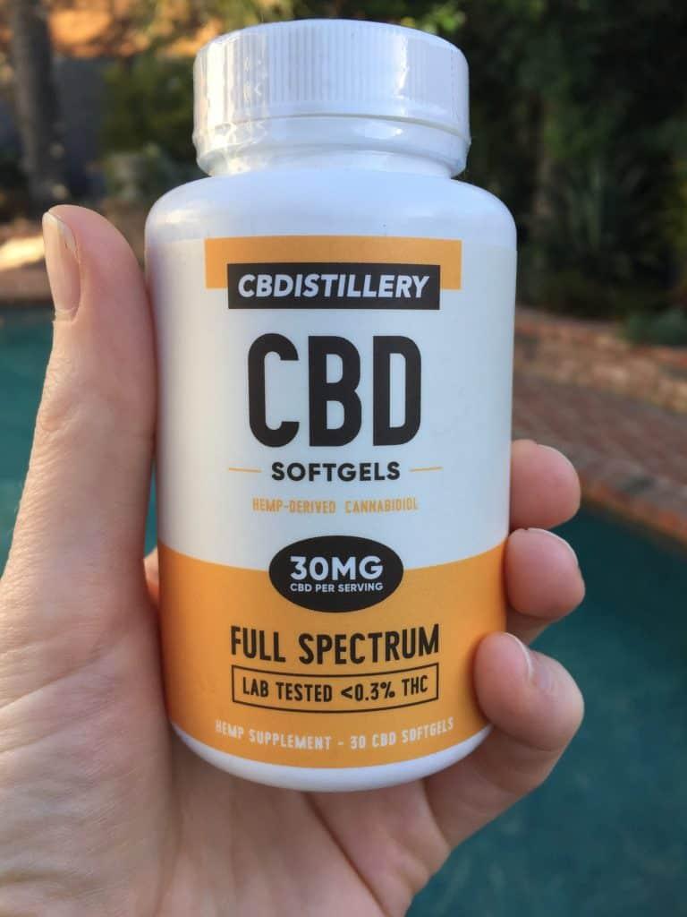 cbdistillery full spectrum cbd softgels save on cannabis review