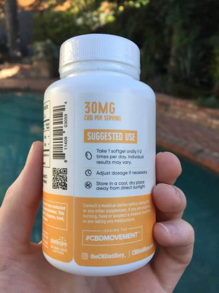 cbdistillery full spectrum cbd softgels save on cannabis review testing process