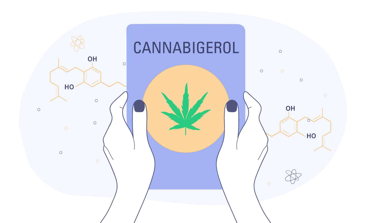 hands holding cannabigerol guide