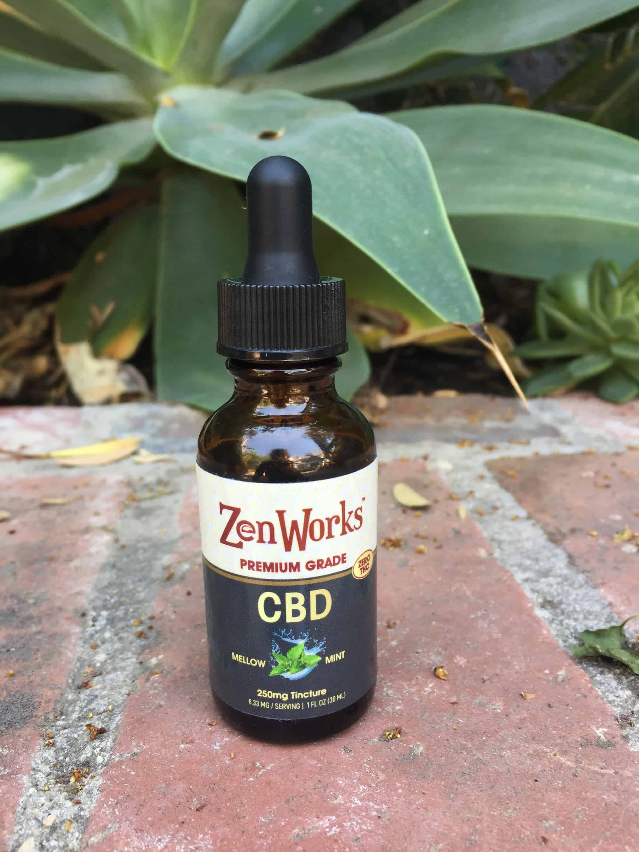 zenworks cbd oil tincture 250 mg mellow mint save on cannabis review