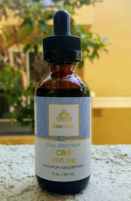 CBD TRU Review Tincture 500mg save on cannabis Beauty Shot