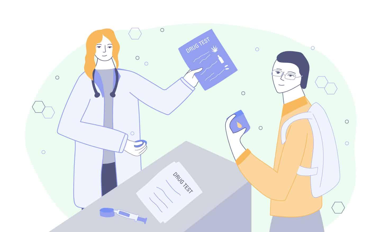 employer handing CBD drug test to employee