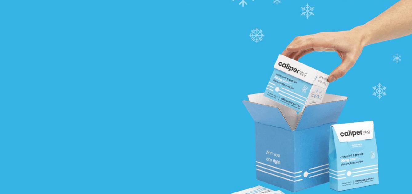 hand opening Caliper CBD product box