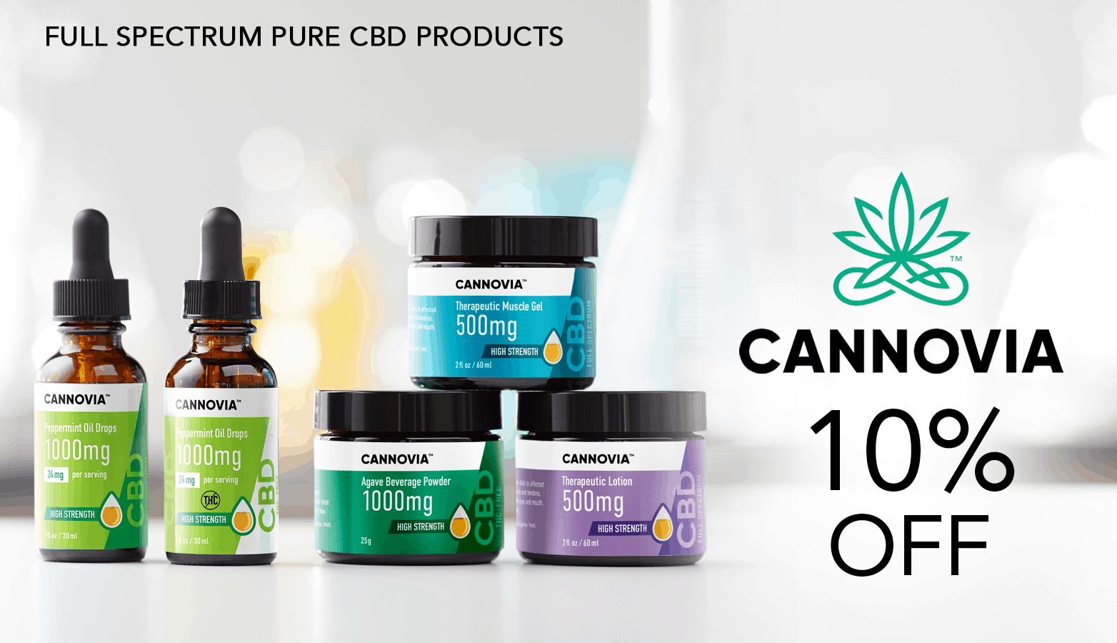 Cannovia CBD Coupon Code website
