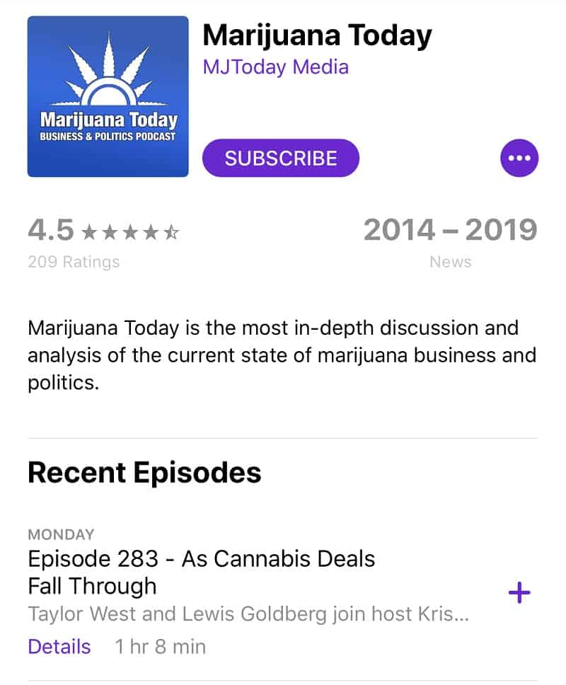 Marijuana Today marijuana podcast
