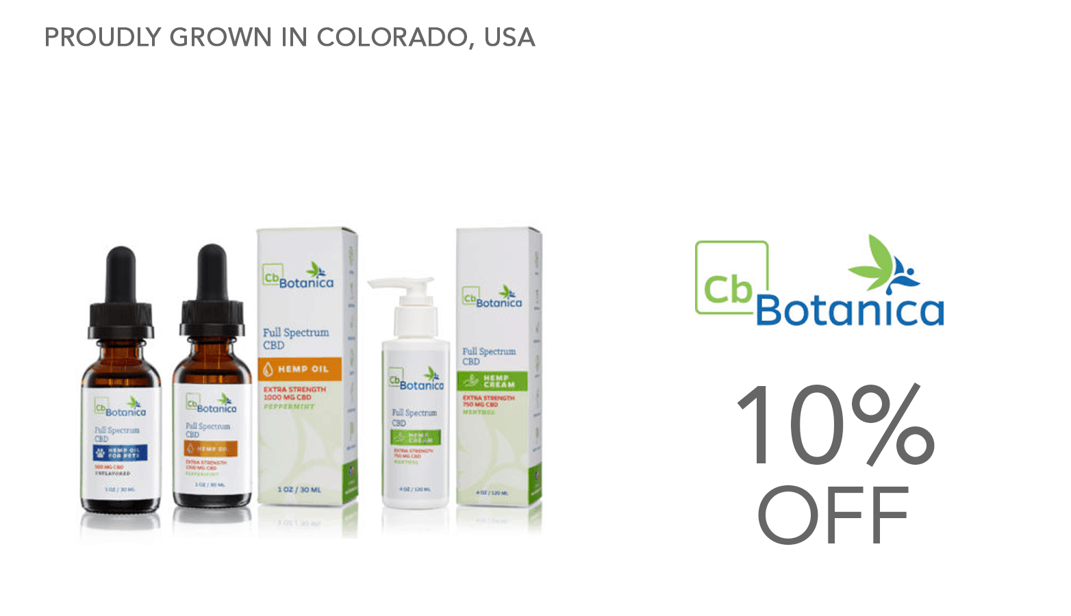 CB Botanica CBD Coupon Code Website