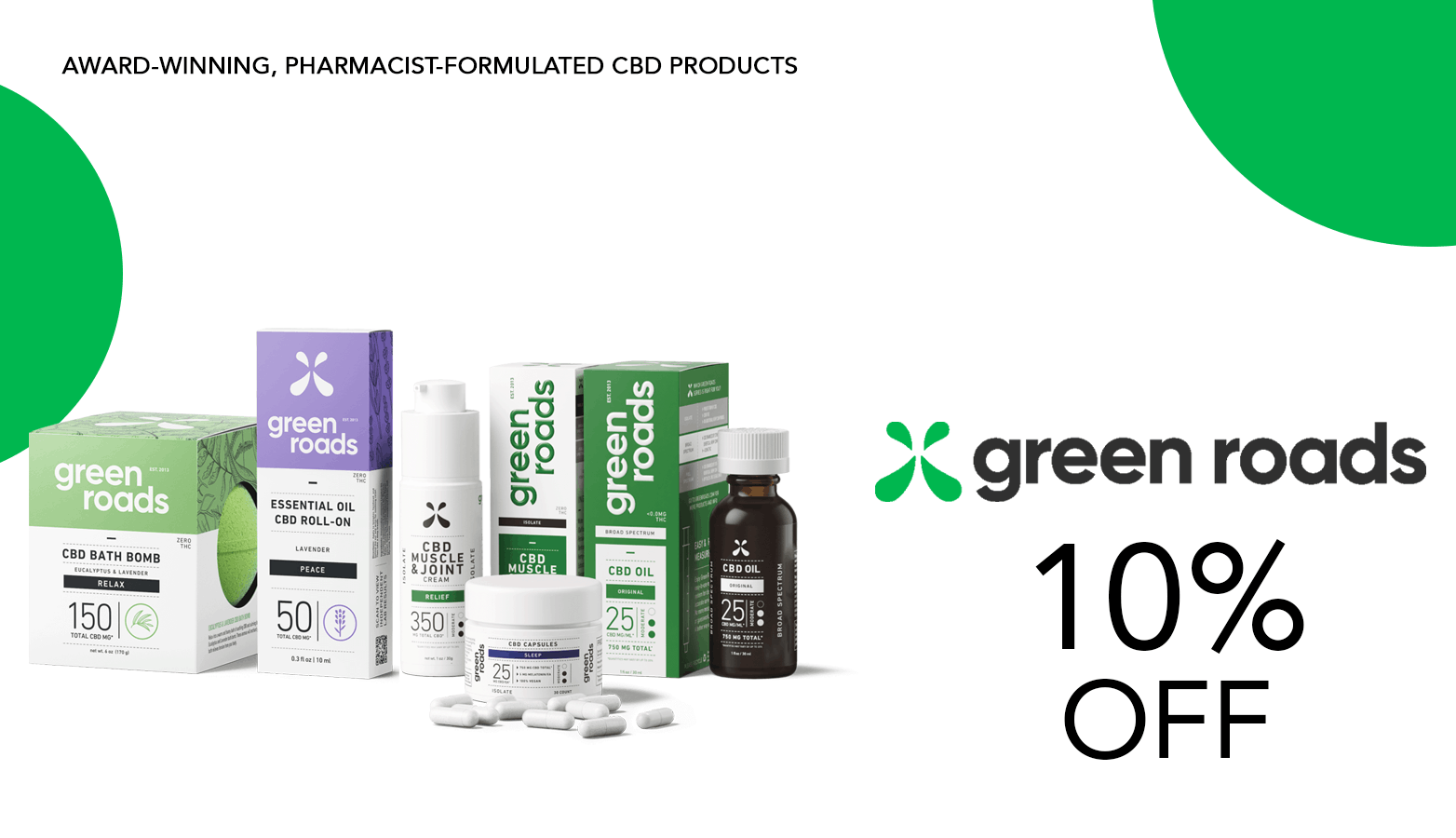 Green Roads coupon codes!
