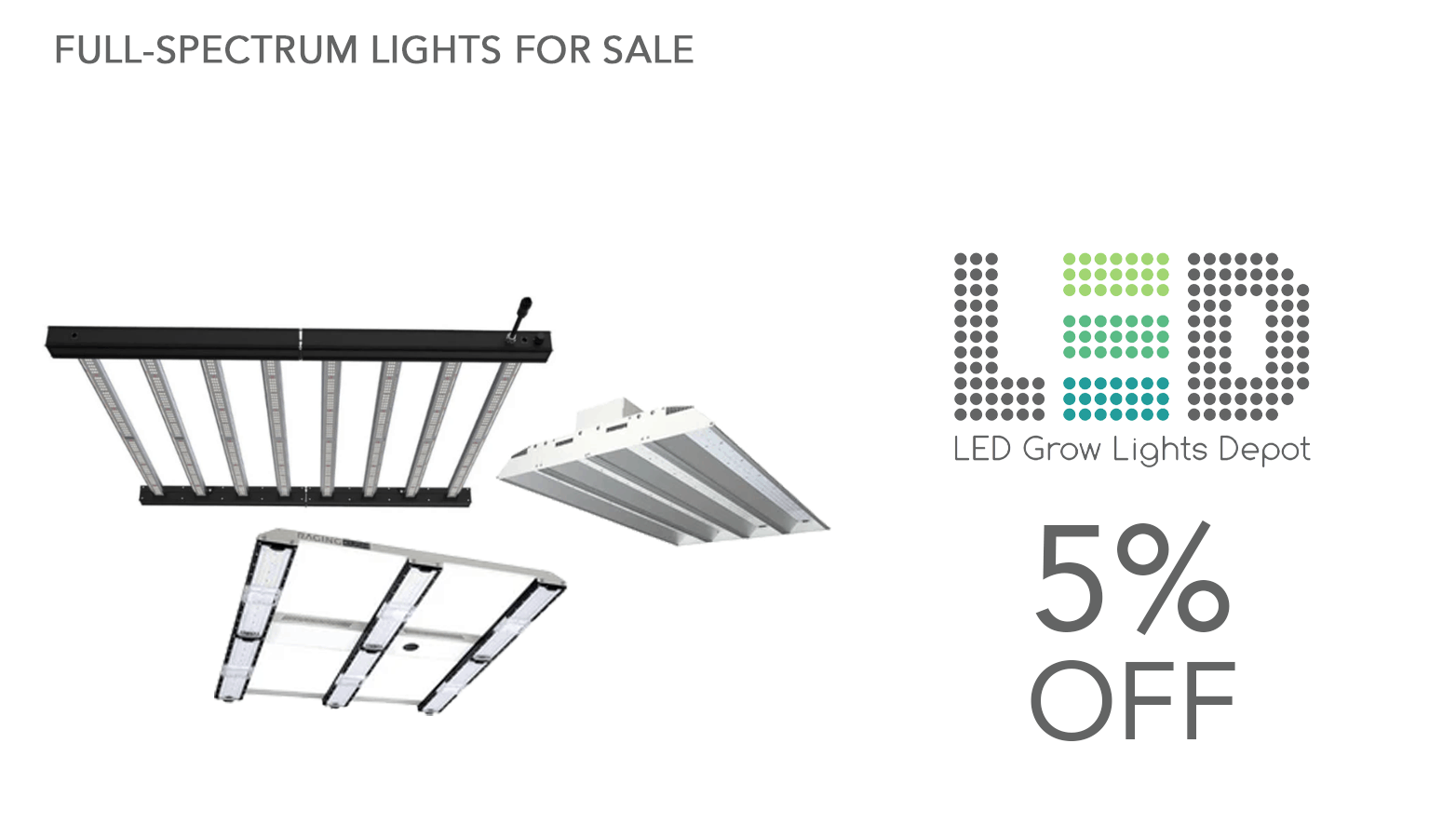 LED Grow Lights Depot Coupon Code Website