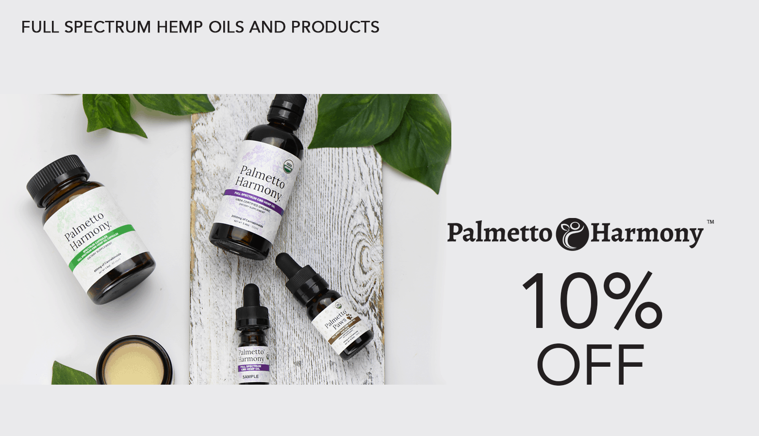 Palmetto Harmony CBD Coupon Code Website
