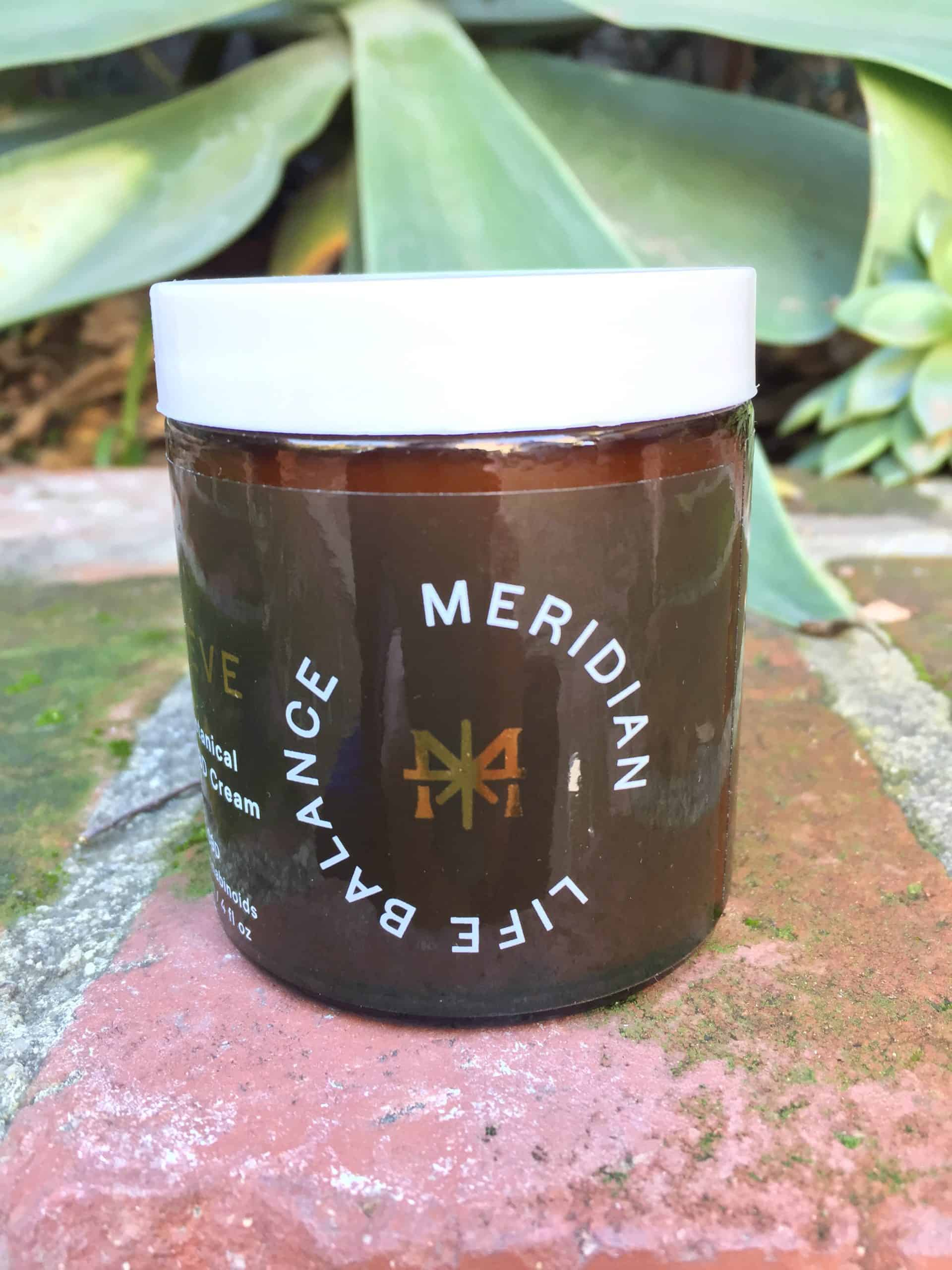 meridian life balance active botanical cooling cbd cream name save on cannabis beauty shot