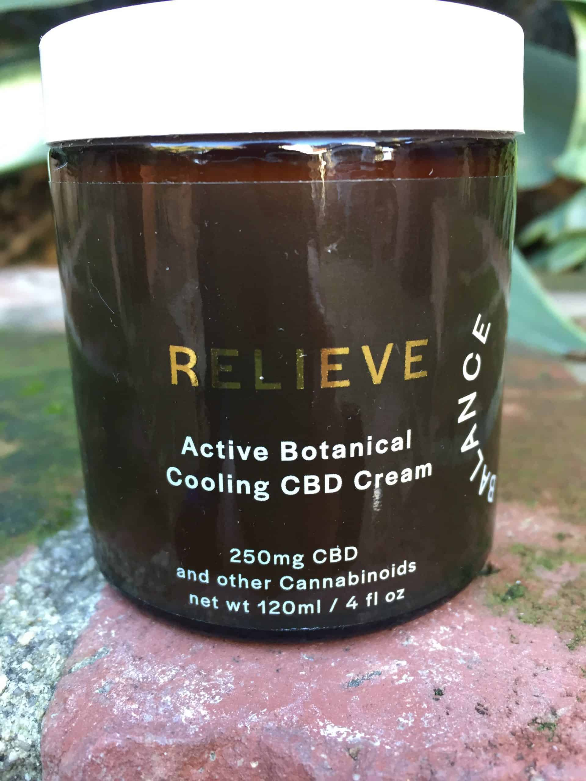 Life Balance Meridian Relieve Active Botanical Cooling CBD Cream