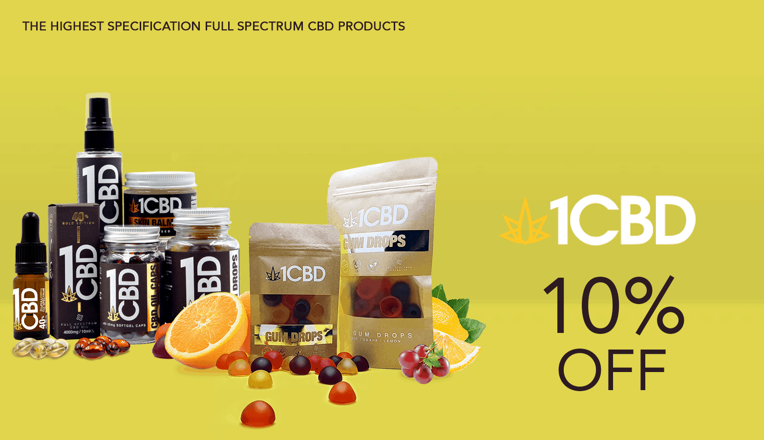 1 CBD UK Coupon Code 10 Percent Off Website