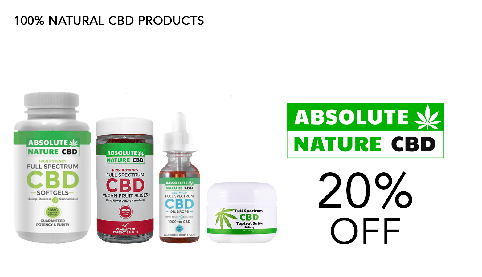 Absolute Nature CBD Coupon Code Website